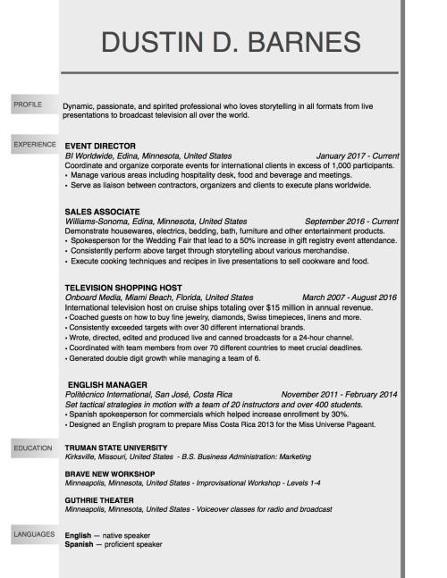 Modeling Resume - Barnes updated April 2017